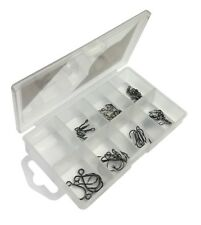 Perch  Pike Fishing Treble Hooks, Swivels, snaps  & Rig Rings in Tackle Box 7042