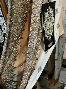 VOCAL Womens PEARLIZED CRYSTAL IVORY AZTEC BLING LEGGINGS PANTS S M L XL USA