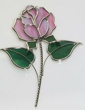 Red Rose Glass Suncatcher (Picture is Pink, but this rose is RED)