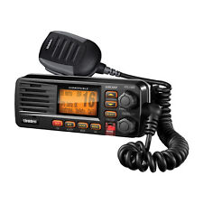 Uniden UM380 Black Marine VHF Radio Class D Fixed Mount w/NOAA/SAME NMEA DSC GPS