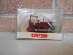 Wiking HO Scale Construction Bulldozer Red  #65502