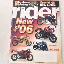 Rider Magazine Triumph Daytona 675 Yamaha FZ1 November 2005 061017nonrh