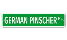 """6092 Ss German Pinscher 4"""" x 18"""" Novelty Street Sign Aluminum"""