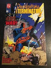 Deathstroke The Terminator#3 Incredible Condition 8.5(1991) Mike Zeck Cover!!