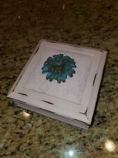 Wooden Jewelry Box Upcycled Chalk Painted Pink French Shabby Chic Distressed