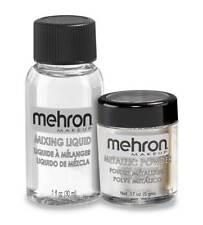 MEHRON METALLIC POWDER WITH MIXING LIQUID STAGE MAKEUP FACE BODY METALLIC PAINT