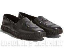 SALVATORE FERRAGAMO black 7 leather Gancio CAPRAIA Espadrille shoes NIB Authentc
