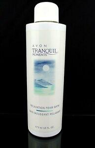 AVON TRANQUIL MOMENTS 473ml 16 FL. OZ.  RELAXATION FOAM BATH 2003 NOS SEALED
