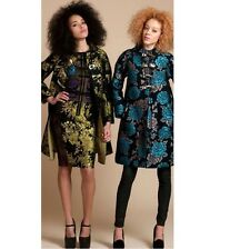 NEW BYRON LARS ANTHROPOLOGIE BLUEROSE Chinoiserie Mona Scuba Jacket Coat 6 $1058