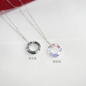Tian Guan Ci Fu 天官赐福 Hua cheng 花城 Cosplay  Silver Crystal Ring Necklace Gift