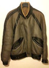 Romagnoli, giubbotto pelle shearling, colore nero Tg.L 48/50