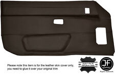 BROWN LEATHER 2X FULL DOOR CARD LEATHER COVER FITS PORSCHE 924 944 1986-1990