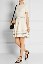 NEW Alexander McQueen Fit and Flare Pointelle Eyelet Knit Dress Sz S RARE! SOLD!