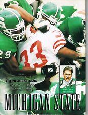 Michigan State Football Program - vs. Michigan, November 4, 1995