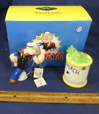 Popeye And Spinach Can Magnetic Salt And Pepper Shaker Set Mib