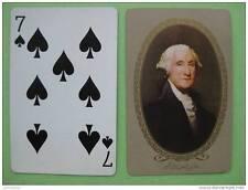 carte à jouer ancienne(USA 1940/45) de collection : George WASHINPTON