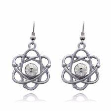 Atom Science Dangle Earrings
