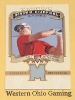 2012 Upper Deck Goodwin Champions Zach Johnson #M-ZJ Relic Card