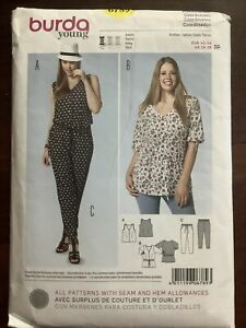 New Factory Folded BURDA Young Misses Top & Pants Pattern 6789  Size 16-28