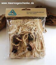 Fischernetz 1,5 m² beige / natur ca. 100 x 150 cm Baumwolle mit 4 Deko-Bojen