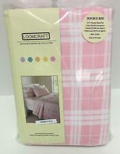 Loomcraft Pink Quebec Flannel Double Sheet Set