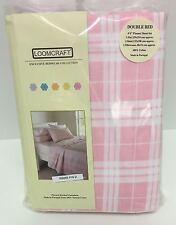 Loomcraft Pink Quebec Flannel Double Sheet Set