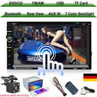 "AUTORADIO MIT DVD CD NAVIGATION NAVI GPS BLUETOOTH 6.95"" USB SD MP3 AUX-IN 2DIN"