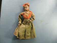 "Vintage Antique Black Americana Mammy Cloth Doll 10""T - Old Handmade Folk Art"