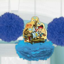 Jake and the Never Land Pirates Kids Birthday Party Hanging Fluffy Decorations