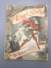 The King's Stilts by Dr.Seuss 1st Edition Early Printing, Yellow Boards