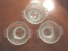 Imperial Iron Cross Colonial Pressed Clear Ribbed Bowls - set of 3