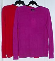 HALOGEN Women's 100% Cashmere Crew-Neck Sweater, Various, NWT