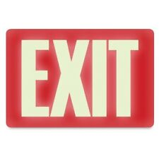 "Headline Sign 4792 Glow-in-the-Dark Exit Sign 8"" by 12"""