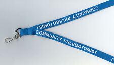 """Promotion! 1 x """"Communauté collecte 'Bleu Sangle de cou ID Lanyard: GRATUIT UK p&p"""