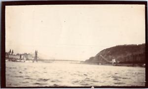 Hongrie, Budapest, pont Elisabeth Vintage albumen print,  Tirage citrate  7x