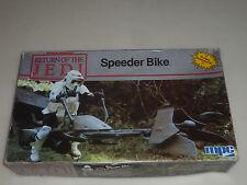 Boxed Star Wars Rotj Speeder Bike Model Kit Mpc Vintage 1983 Complete Unbuilt >>