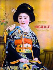 Japanese Geisha Drink Parke's Camel Tea Food & Wine Advertisement Poster Print