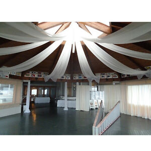 2 ft x 32 ft wedding ceiling backdrop drapes 10 pieces ceiling drapery panel