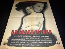 UN GRAND PATRON yves ciampi Pierre Fresnay affiche cinema rene peron  1951
