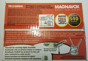 Magnavox DTV Digital to Analog TV Converter Box TB110MW9 - Factory Sealed