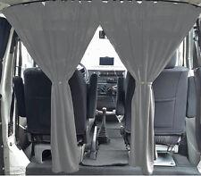 MAß AUTOGARDINEN Fahrerhaus Abtrennung VW T5 T6 Transporter Vorhänge Grau