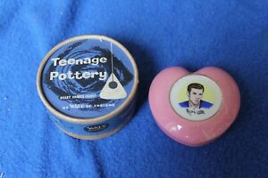 WADE Teenage Pottery -  MARTY WILDE - 1960's - Heart Shaped Casket - with Box
