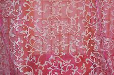 Costume Organza Fabric Sheer Hot Pink  Silver Glitter  Dark Queen  Bfab