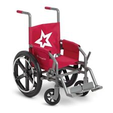 """American Girl Brand 18"""" Doll Accessories BERRY RED WHEELCHAIR Hospital Dr. Chair"""