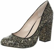 VINCE CAMUTO Womens Vasili Glitter Black Bronze Heels Pumps Shoes Size 7.5M NIB!