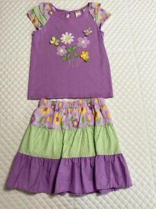 Gymboree Girls Pocket Full of Posies Skirt and Shirt Size 8