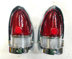1955 chevy belair 210 150 tail light assemblies right & left #1 reconditioned