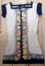 Jean Paul Gaultier Shirt helles Lachs mit Rosen Gr. M  wie Neu