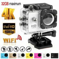 Action Camera HD 4K WiFi Camcorder Waterproof DV Sports Cam Go Underwater KIT US