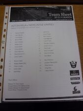 04/11/2013 Aston Villa U21 v Newcastle United U21 [At Burton Albion] (single she